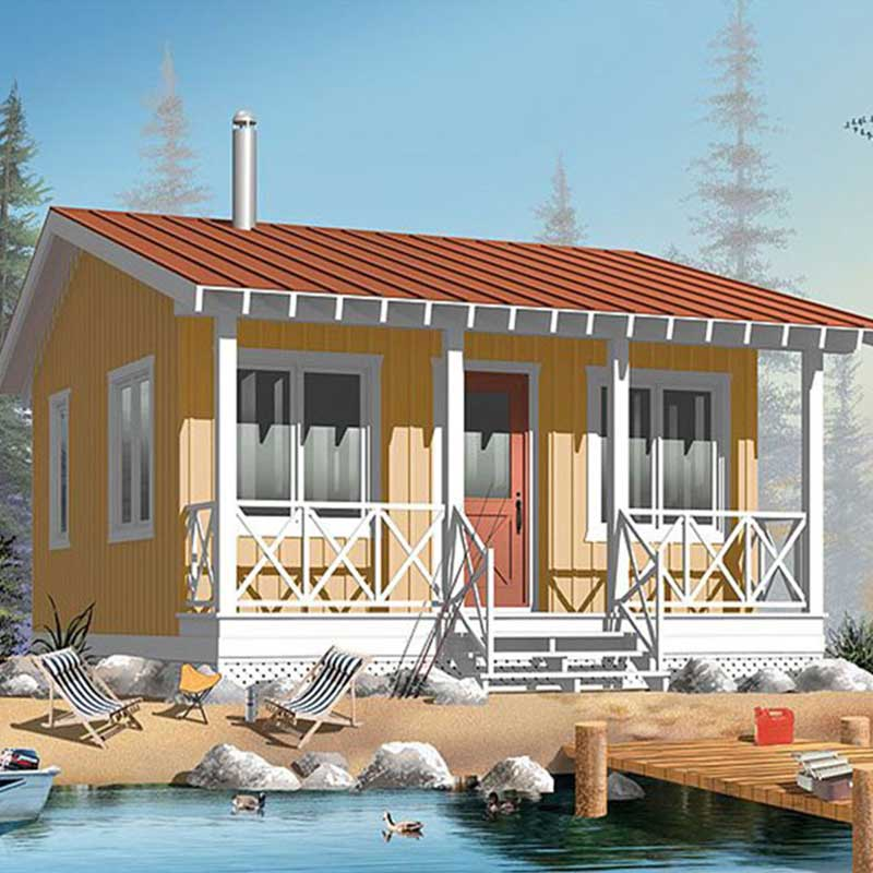 HJSD-1-1-2 Customer design prefab home villa vacation bungalow