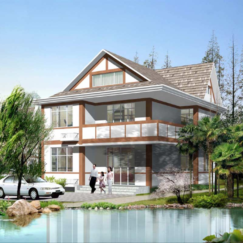 HJSD-2-3-1 2 floors 3 bedrooms prefab houses villa with quality assurance