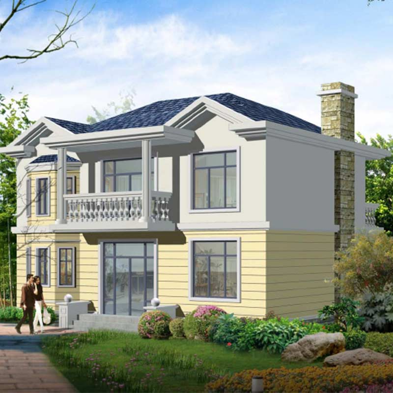 HJSD-2-3-2 2 floors 3 bedrooms prefab houses luxury villa with quality assurance