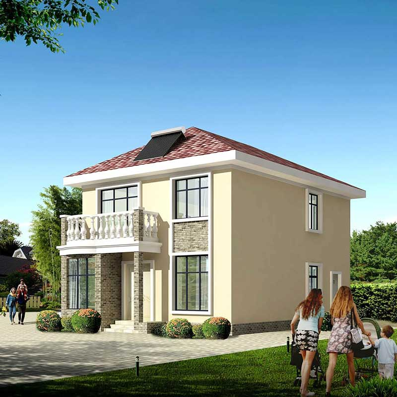 HJSD-2-3-5 2 floors 3 bedrooms light steel prefab houses villa with quality assurance