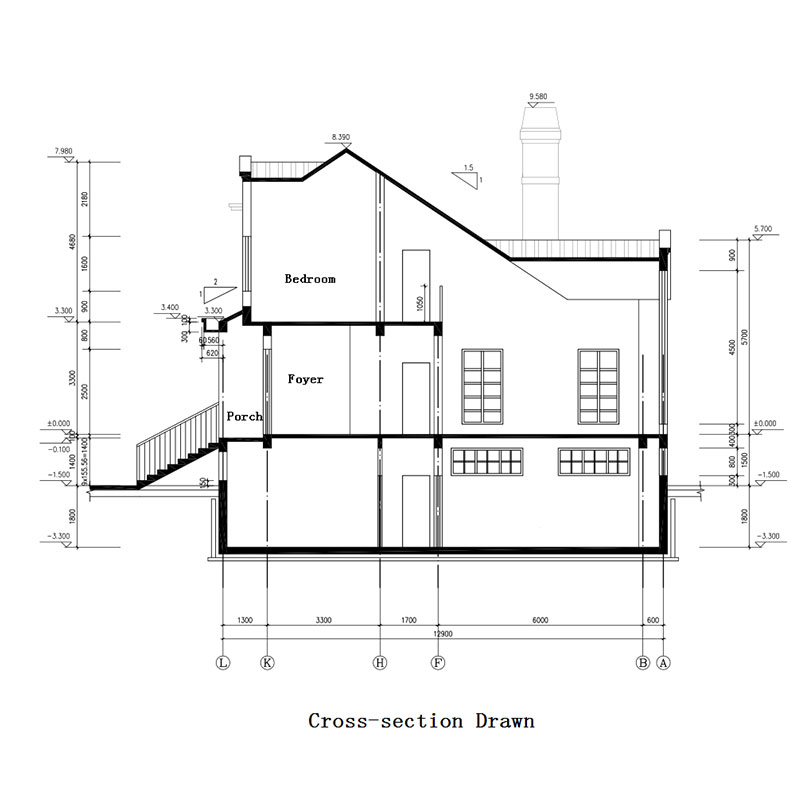 HJSD-2-4-3 2 floors 4 bedrooms new design prefab houses villa with quality assurance