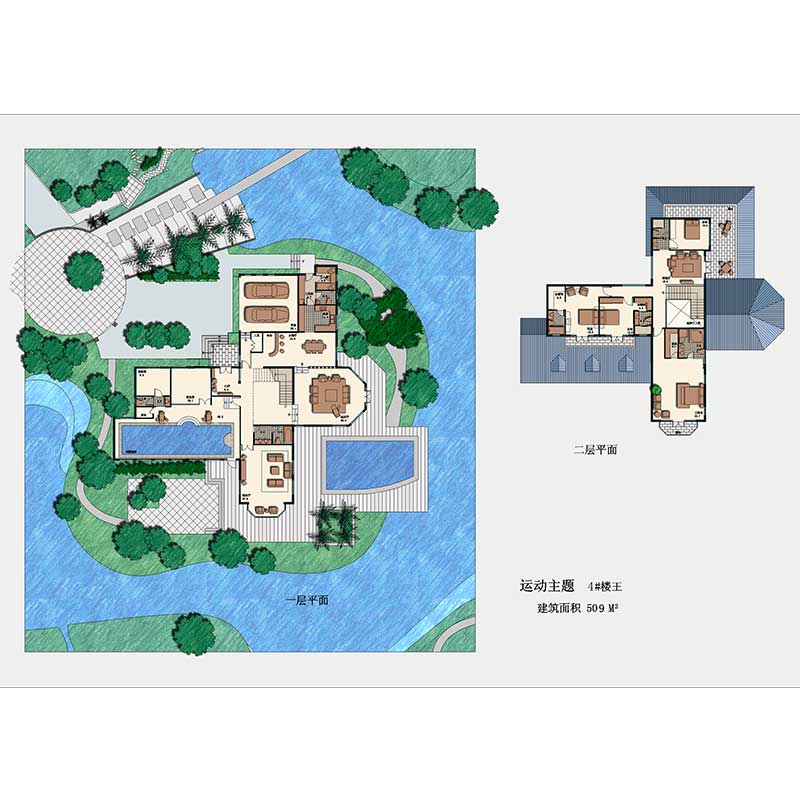 HJSD-2-4-4 2 floors 4 bedrooms easy assemble prefab houses villa with quality assurance