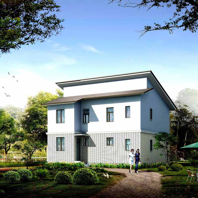 HJSD-2-4-5 low cost 2 floors 4 bedrooms prefab houses villa with quality assurance