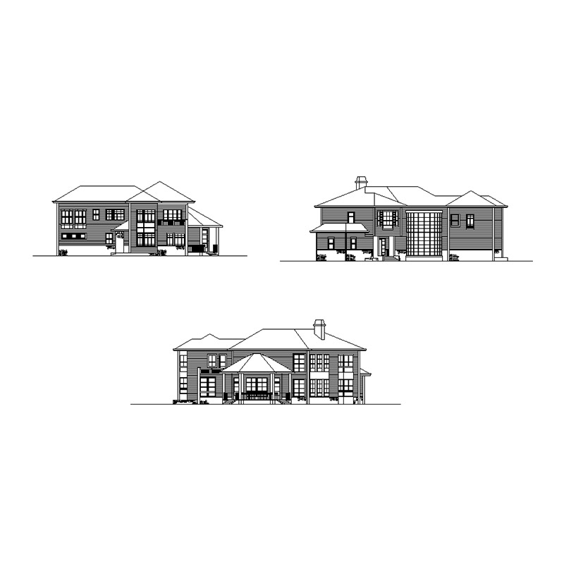HJSD-2-5-2 low cost 2 floors 5 bedrooms prefab houses villa with modern design and quality assurance