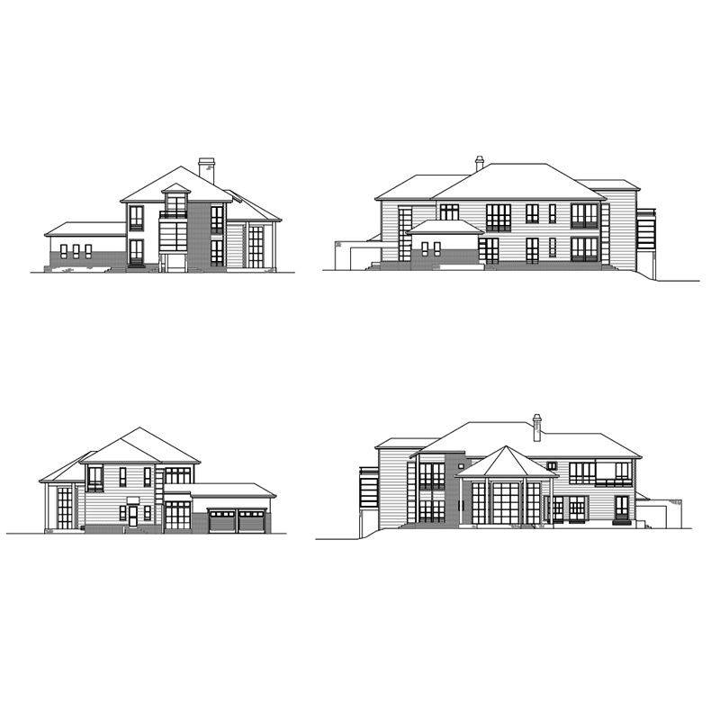 HJSD-2-5-3 low cost 2 floors 5 bedrooms prefab houses villa with quality assurance