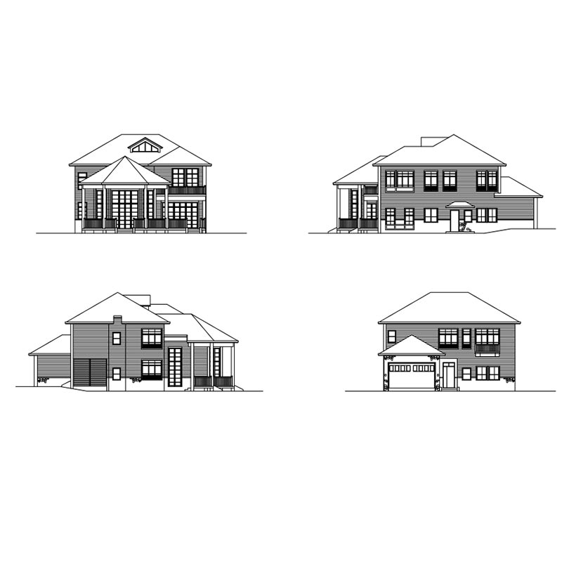 HJSD-2-5-5 low cost 2 floors 5 bedrooms prefab houses light steel villa with quality assurance