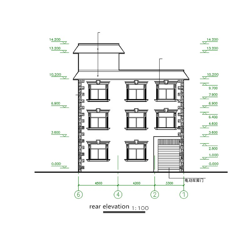 HJSD-3-3-1China supplier light steel structure three storeys prefabricated villa for sale