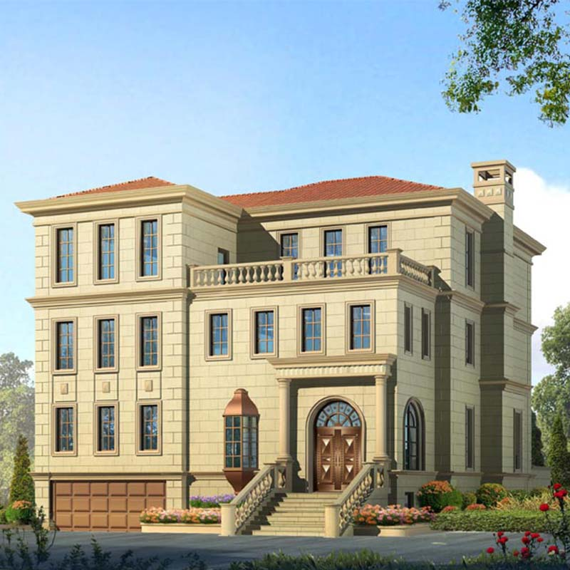 HJSD-3-4-3 Manufacture three floors steel villa with well design