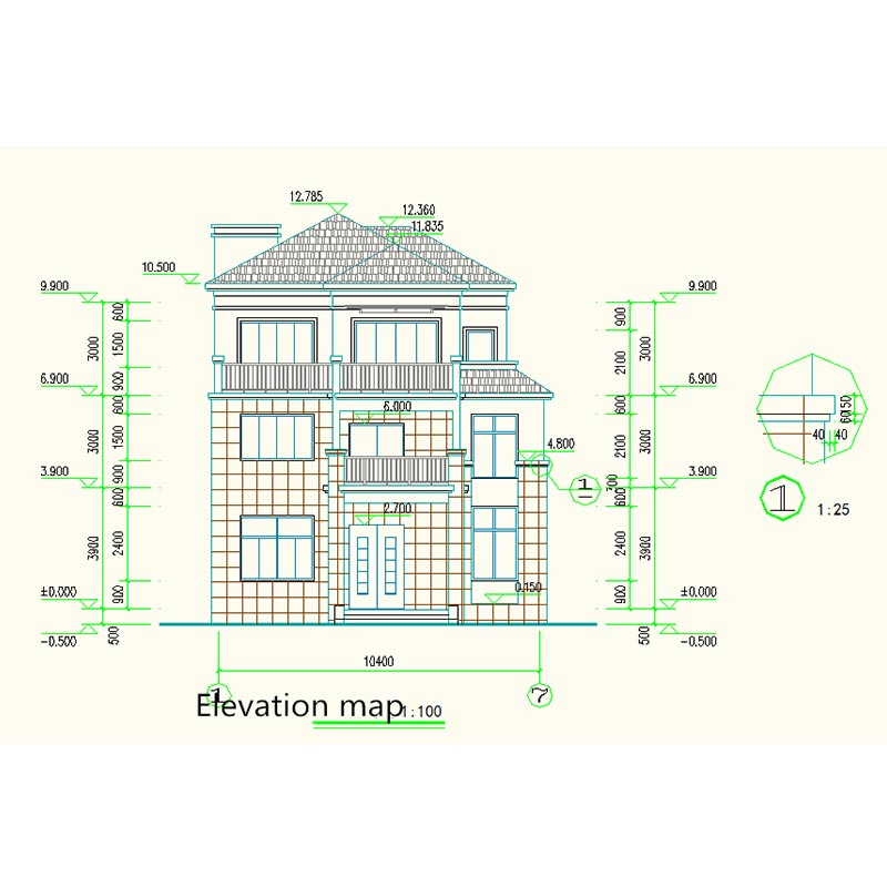 HJSD-3-4-5 nice design best quality three floors villa with steel structure